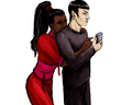 Scrabble equals foreplay - spock-and-uhura fan art