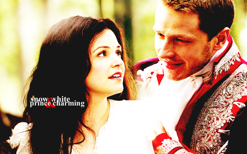 Snow White & Charming kertas dinding