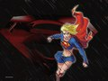 Supergirl in black Rain