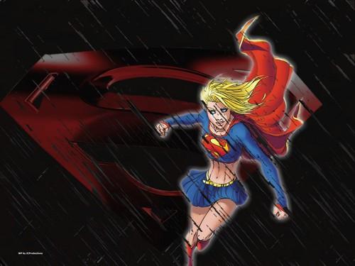 Supergirl in black Rain
