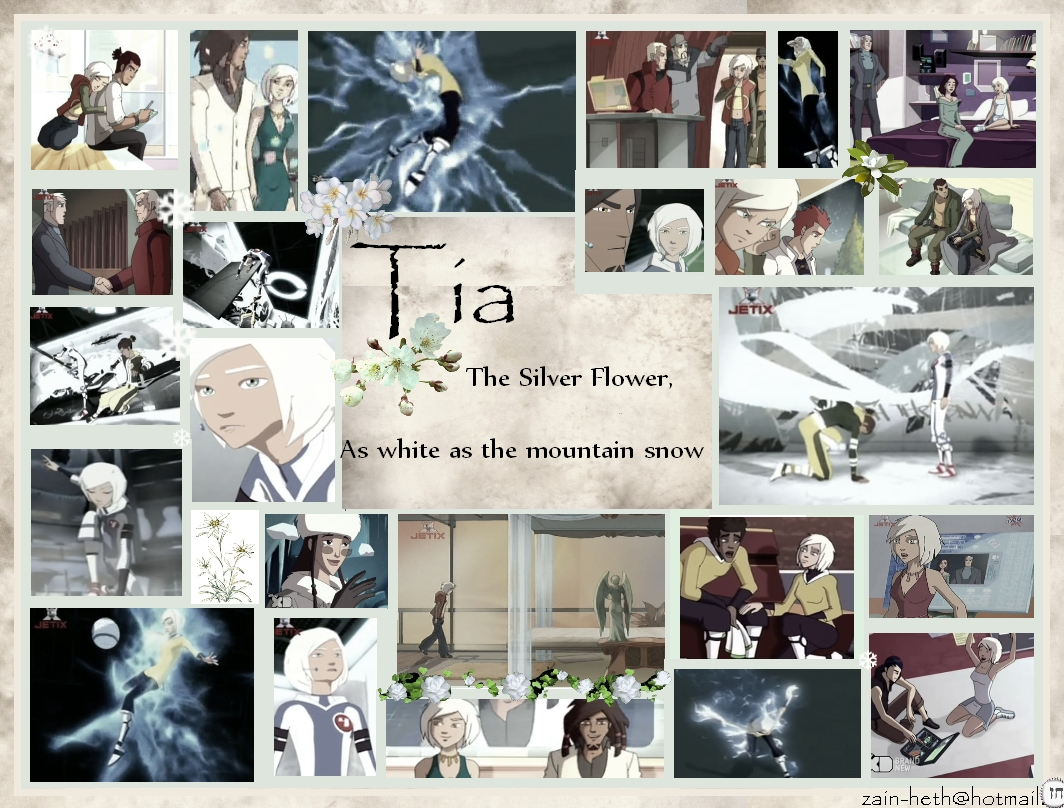 Tia the silver پھول