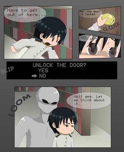 Unlock the door?