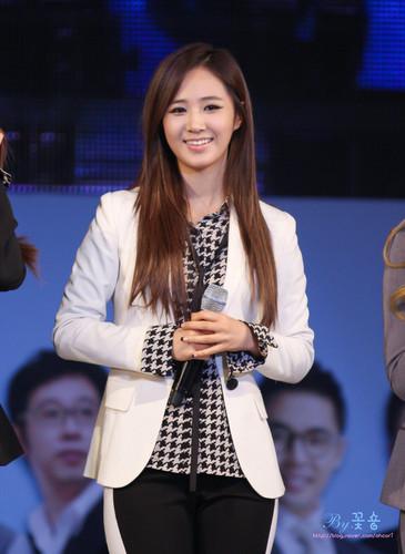 kwon Yuri karatasi la kupamba ukuta possibly containing a business suit titled Yuri