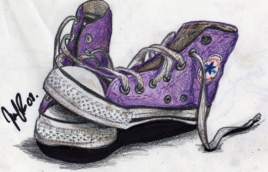 Converse Shoes Drawing at GetDrawingscom  Free for