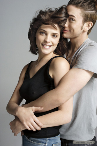 Jackson Rathbone & Ashley Greene achtergrond possibly with a portrait entitled ashley and jackson
