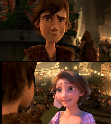 hiccup and rapunzel