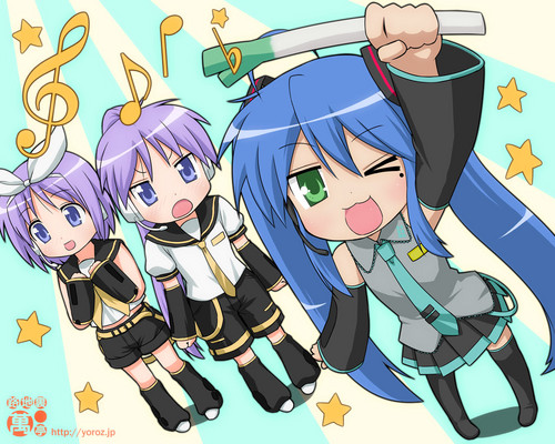 lucky star vocaloid cosplay