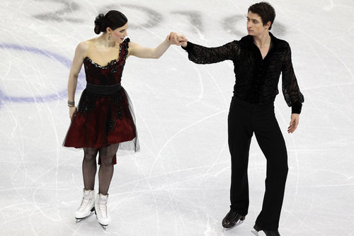 Tessa Virtue & Scott Moir wallpaper containing a well dressed person and a cocktail dress entitled tessa virtue & Scott Moir - Tango romantica