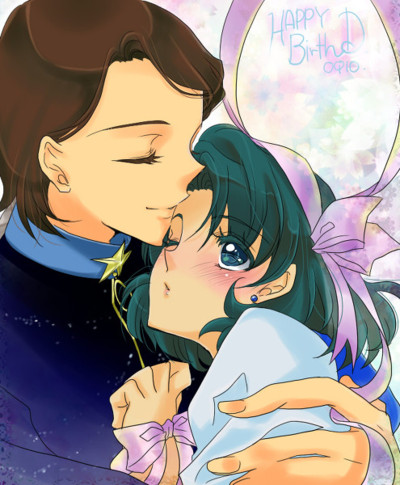 Sailor Mercury Hintergrund with Anime called Ami and Taiki