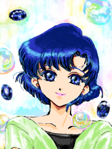 Sailor Mercury wolpeyper possibly containing anime called Ami