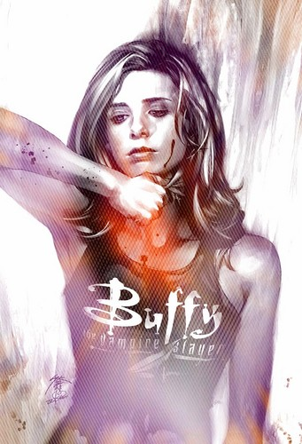 Buffyverse Comics achtergrond with a portrait titled BUFFY COMICS- Various♥