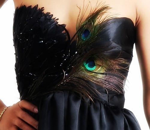 Bonnie M's peacock dress