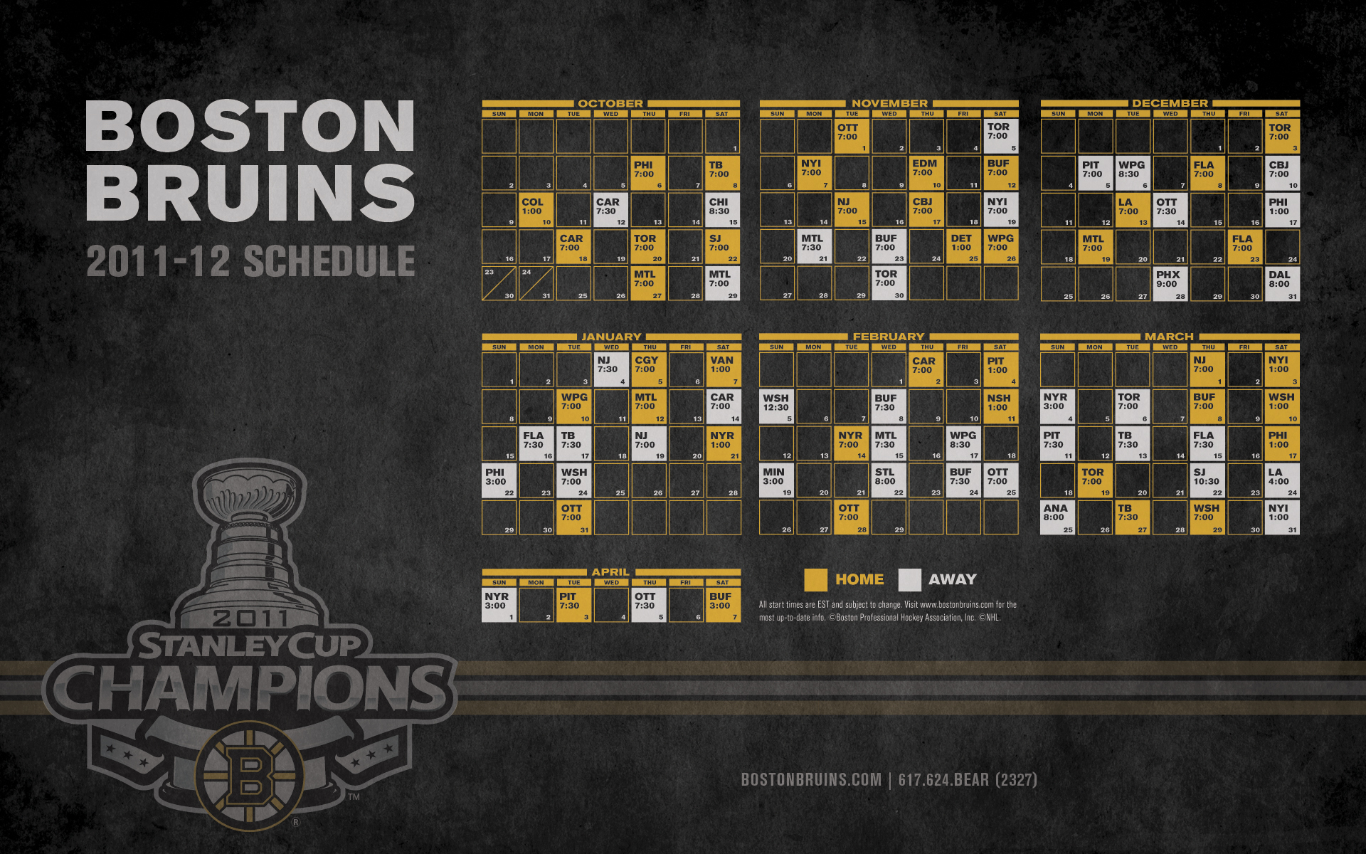 Boston Bruins images Bruins 201112 Schedule HD wallpaper and