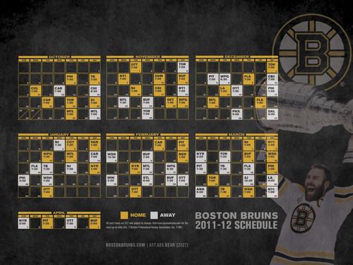 Bruins 2011-12 Schedule