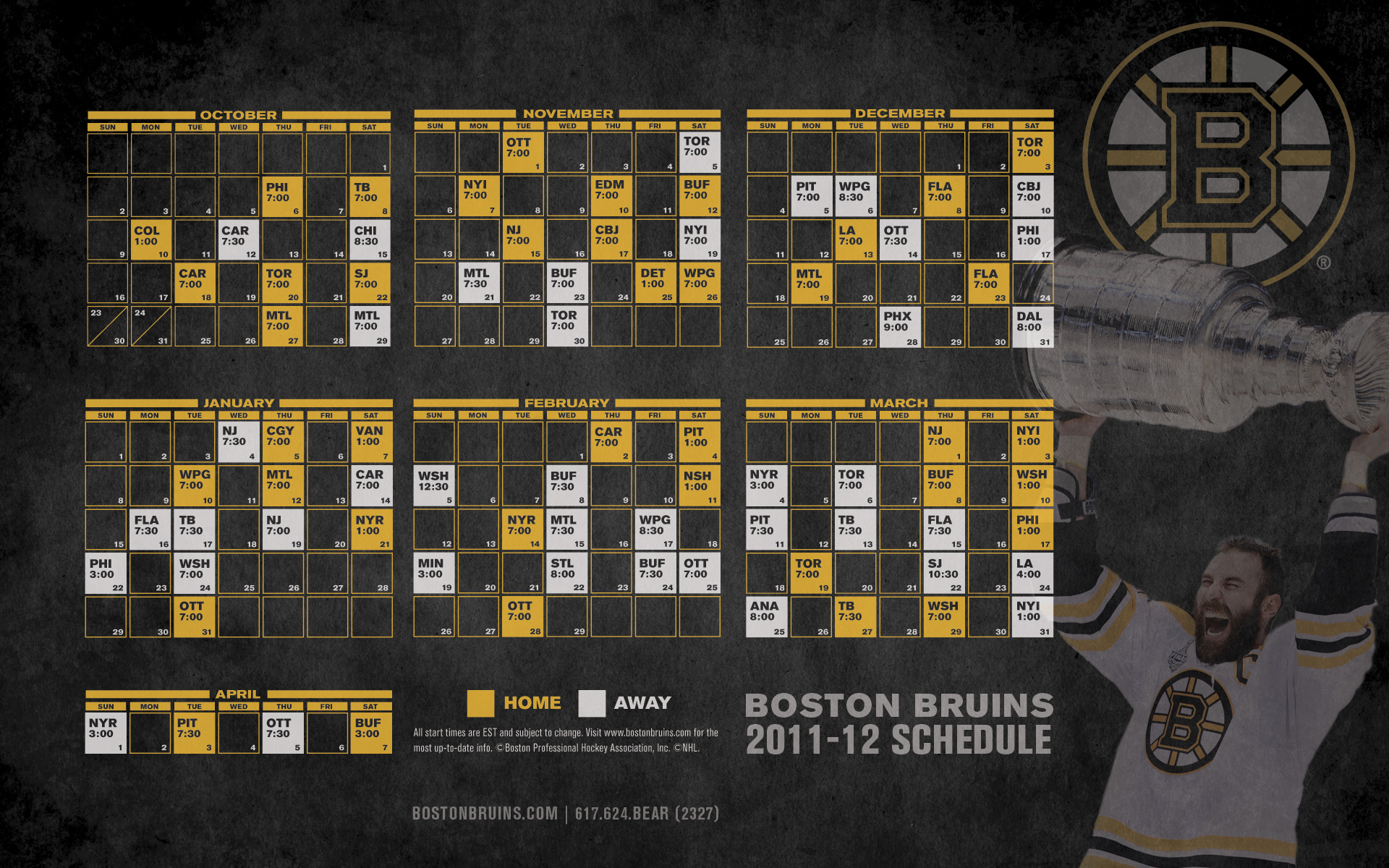 graphic about Boston Bruins Printable Schedule titled Bruins 2011-12 Routine - Boston Bruins Wallpaper (27313603