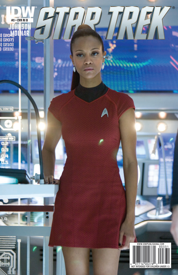 Zo  235  Salda  241 a as Uhura Star Trek Ongoing  3 CoverZoe Saldana Star Trek