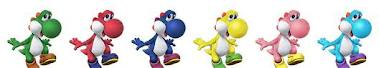 Different Colour Yoshis!