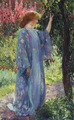 Guy Rose - The Blue کیمونو, kimono (1909)