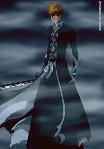 animé Bleach fond d'écran probably with a dîner dress entitled ICHIGO NEW BANKAI