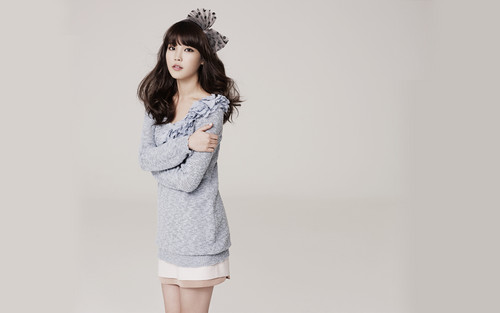 IU wallpaper probably containing a playsuit, an outerwear, and a well dressed person titled IU Y'SB