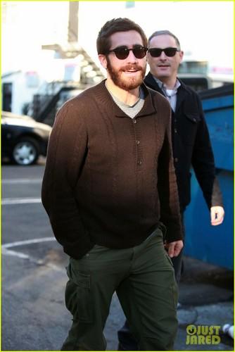Jake Gyllenhaal: Saturday Stroll with a Friend