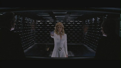 "January Jones fond d'écran possibly containing a business suit called January Jones in ""X-Men: First Class"""