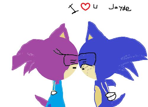 Jayde and sonic 接吻