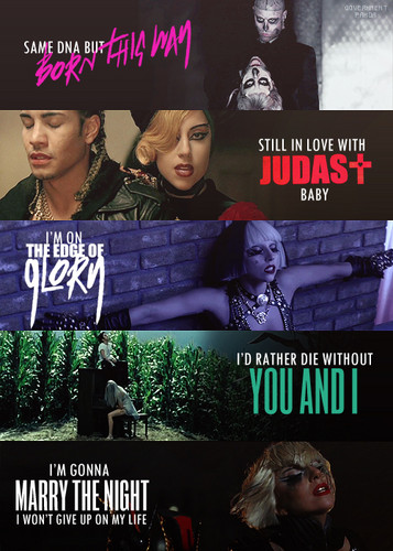 Lady Gaga Born This Way Album-Videos