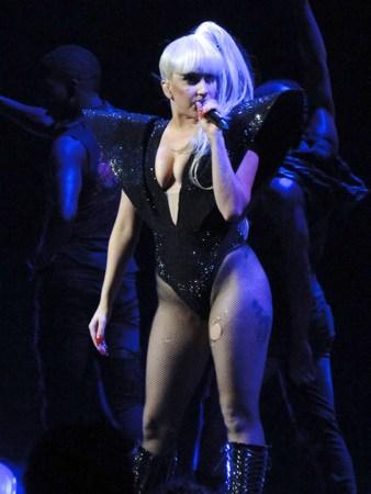 Lady Gaga performing live at KIIS FM Jingle Ball