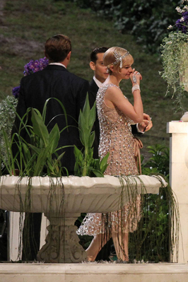 Leo on The Great Gatsby set.