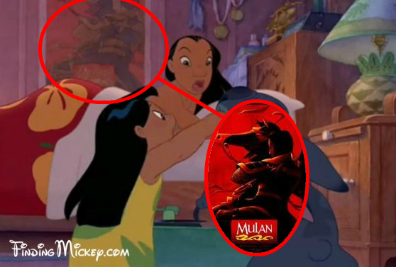 disney crossover Mulan Poster in Lilo and Stitch