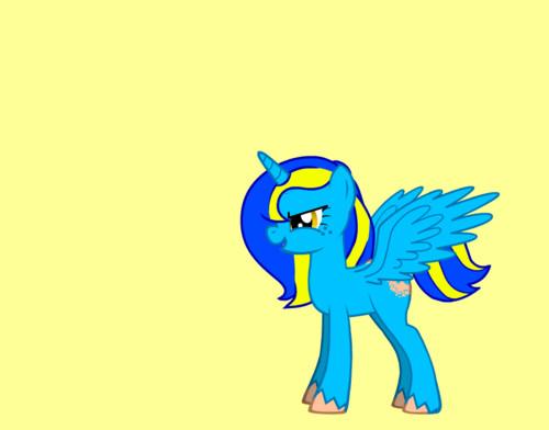 My gppony, pony BlueYellow