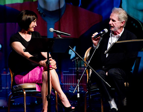 Nana Visitor and René Auberjonois at a 2011 stella, star Trek convention
