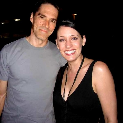 Hotch & Emily 壁纸 probably with a portrait entitled P & T