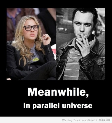 Penny & Sheldon fondo de pantalla possibly with a portrait and anime titled Parallel Universe