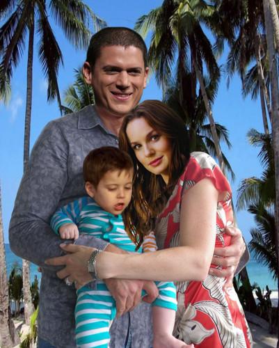 Prison Break - Michael & Sara with their son MJ