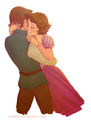 Rapunzel & Eugene Hugging - tangled-ever-after photo