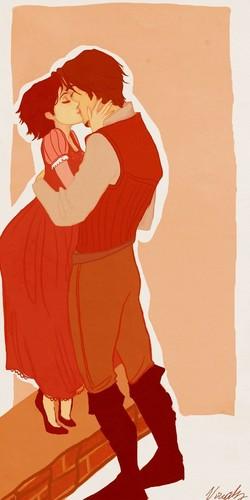 Rapunzel & Eugene Kissing