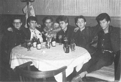 Stuart Sutcliffe with Beatles (Hamburg 1961)