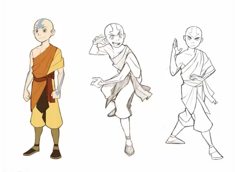 Avatar – Der Herr der Elemente Hintergrund with Anime entitled The Promise - Character Concept Art