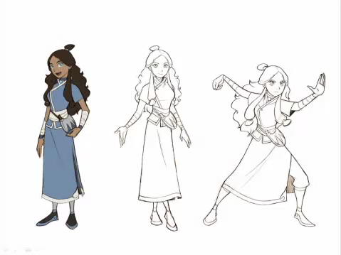 Avatar The Last Airbender karatasi la kupamba ukuta probably with a kirtle, a surcoat, and a polonaise titled The Promise - Character Concept Art