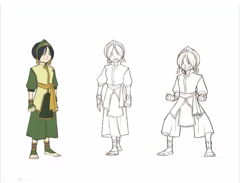 Avatar The Last Airbender kertas dinding entitled The Promise - Character Concept Art