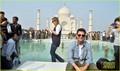 Tom Cruise of the iconic Taj Mahal (December 3) in Agra, India.
