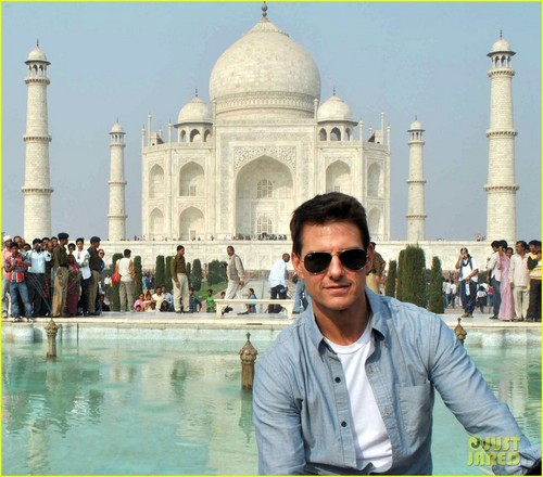 Tom Cruise wallpaper called Tom Cruise  of the iconic Taj Mahal  (December 3) in Agra, India.