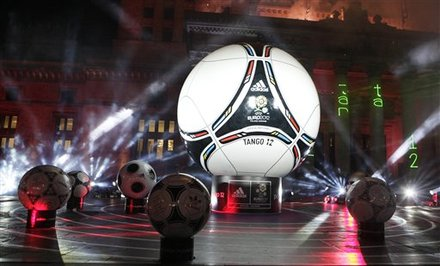 UEFA Euro 2012 wallpaper containing a soccer ball entitled UEFA EURO 2012 Final Draw Ceremony