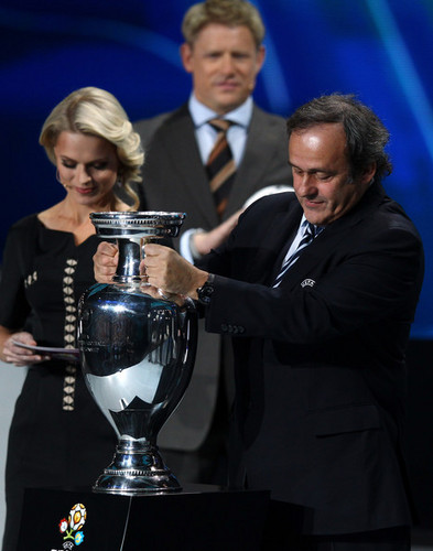 UEFA Euro 2012 wallpaper containing a business suit called UEFA EURO 2012 Final Draw Ceremony