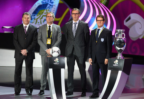 UEFA Euro 2012 wallpaper containing a business suit, a suit, and a dress suit titled UEFA EURO 2012 Final Draw Ceremony
