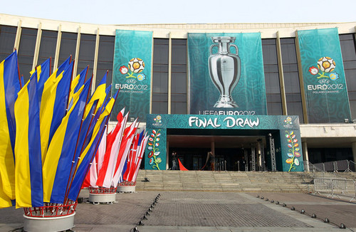 UEFA Euro 2012 wallpaper containing a multiplex and a street entitled UEFA EURO 2012 Final Draw Ceremony