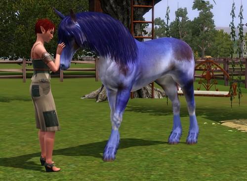 Unicorn/horse mix
