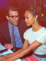 Zoe Saldana & Zachary Quinto - spock-and-uhura photo